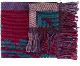 Etro ribbed frayed scarf