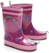 Kidorable Purple Butterfly Rain Boot