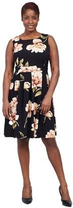 M&Co Izabel Curve floral fit and flare dress