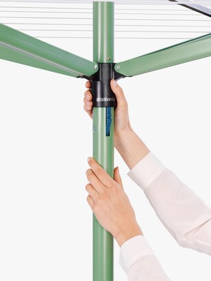 Brabantia Topspinner Rotary Clothes Outdoor Airer Washing Line with Ground Spike, 50m