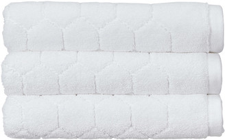 Christy Honeycomb Towel - White - Hand