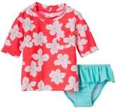 Carter's Toddler Girl Tropical Flower Print Rashguard & Ruffle Peplum Bottoms Swimsuit Set