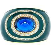 Roberto Cavalli Green Metal Bracelet