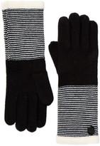Vince Camuto Striped Cuff Gloves