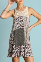 Umgee USA Crochet Patchwork Dress