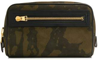 Tom Ford camouflage print zipped clutch