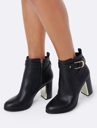Forever New Bridget Block Heel Ankle Boots - Black - 36