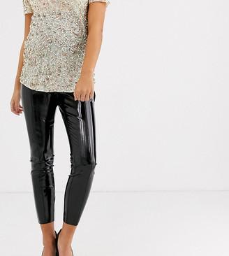 ASOS DESIGN Maternity spray on vinyl over the bump trouser