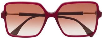 Fendi Eyewear Oversized Square Frame Sunglasses