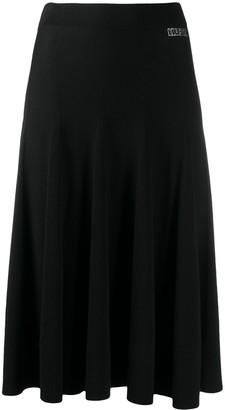Liu Jo Rhinestone-Logo Knitted Skirt