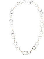 Mark Steel Staggered Link Necklace