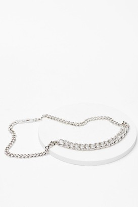 Nasty Gal Womens Off the Chain Diamante Necklace - Grey - ONE SIZE, Grey