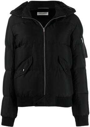 Saint Laurent Zipped Padded Jacket