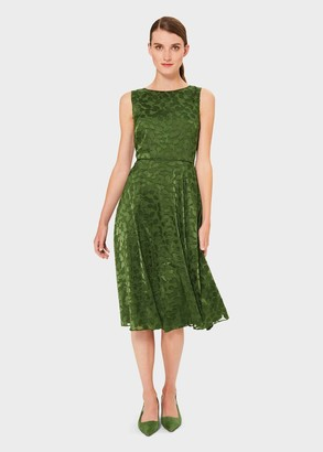 Hobbs Adaline Jacquard Fit And Flare Dress