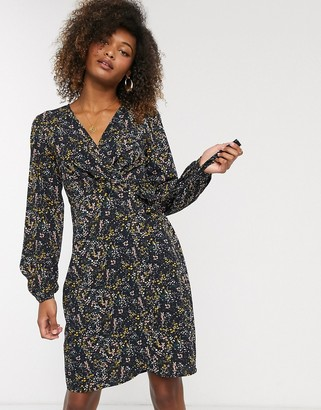 Vero Moda floral wrap dress-Multi