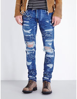Amiri Ripped And Distressed Slim-fit Jeans