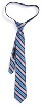 Nordstrom Boy's Stripe Silk Zipper Tie