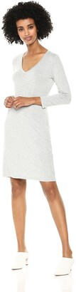Daily Ritual Amazon Brand Women's Jersey 3/4-Sleeve V-Neck T-Shirt Dress