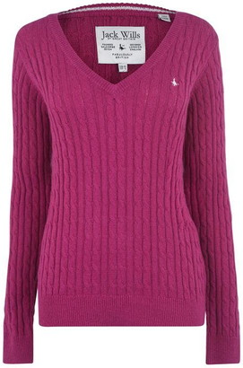Jack Wills Banford V Neck Cable Jumper
