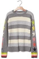 Gap Star-sleeve striped sweater