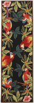 Safavieh Chelsea Collection HK296A Hand-Hooked Black Wool Runner, 2 feet 6 inches by 12 feet