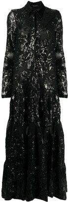 Gianluca Capannolo Sequin Floral Gown
