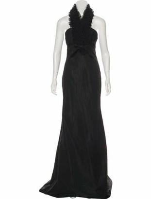 Giambattista Valli Halter Evening Gown Black