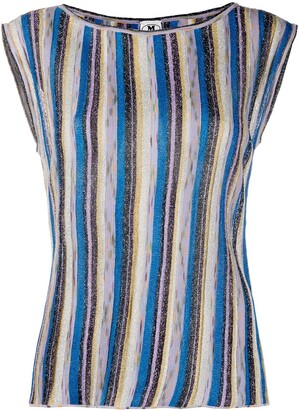 M Missoni Sleeveless Striped Knit Top