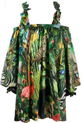 Dolce & Gabbana Tropical-Print Dress