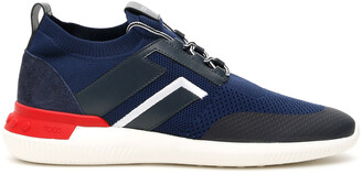 Tod's NO CODE 02 SNEAKERS 10 Blue, White, Red Technical, Leather