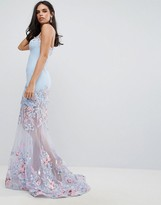 Forever Unique Floral Sweetheart Maxi Dress