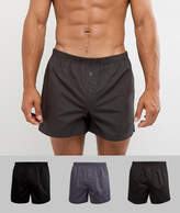 Asos Woven Boxers In Monochrome 3 Pack SAVE