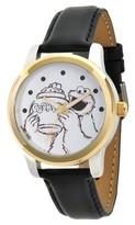 Sesame Street Unisex Unisex Two Tone Alloy Watch - Black