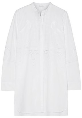 Vilshenko Embroidered Broderie Anglaise Cotton-poplin Tunic
