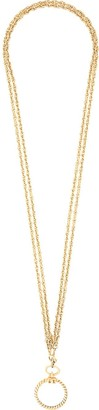 Chanel Pre-Owned circle pendant necklace