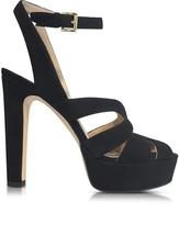 Michael Kors Winona Black Suede Platform Sandals
