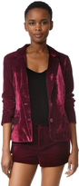 Cupcakes And Cashmere Toby Ultra Soft Velvet Blazer
