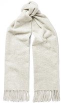 Acne Studios Canada Narrow Mélange Virgin Wool Scarf - Gray