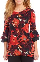Westbound Petites 3/4 Double Bell Sleeve Tunic