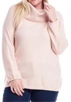 Fever Plus Size Cowlneck Off-The-Shoulder Sweater