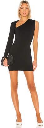 Susana Monaco One Sleeve Wrap Neck Mini Dress