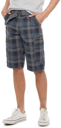 Men's Urban Pipeline Belted Stretch Canvas Cargo Shorts