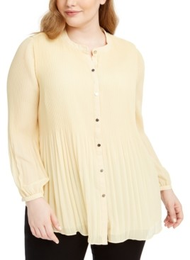 Alfani Plus Size Pleated Completer, Created for Macy's