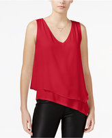 Bar III Asymmetrical Layered-Look Top, Only at Macy's