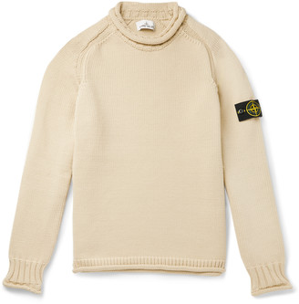 Stone Island Logo-Appliqued Knitted Rollneck Sweater