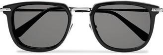 Brioni D-Frame Acetate And Silver-Tone Sunglasses