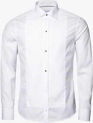 Eton Super slim-fit cotton-poplin dress shirt