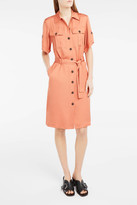 Paul & Joe Tie-Waist Midi Shirt Dress