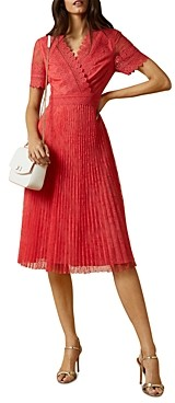 Ted Baker Sonyyia Faux-Wrap Lace Midi Dress