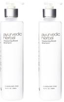 Caroline Chu Twin Pack Ayurvedic Herbal Thickening Boost Shampoo (16.9 OZ)